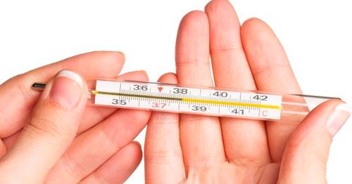 Ртутный градусник для измерения температуры тела