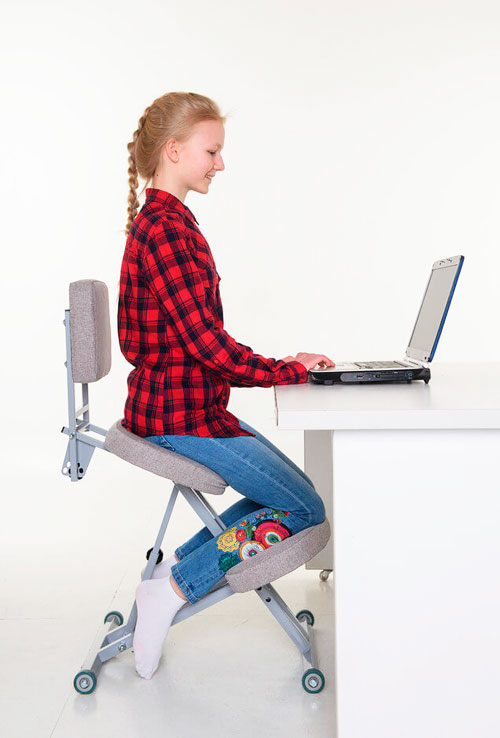Ортопедический коленный стул для дома