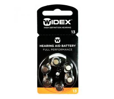 Батарейки Widex 13 для слухового аппарата